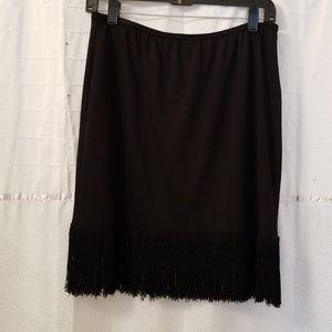 Vintage black fringe pencil skirt 😍